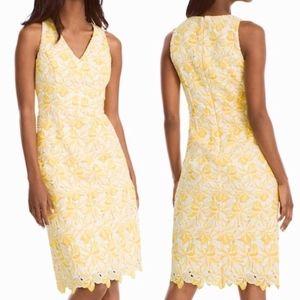 WHBM Tonal Floral Lace Sheath Dress 0 Stunning!